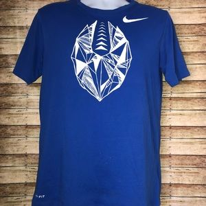 The Nike Tee Athletic Cut Dri-Fit Blue tee Sz M